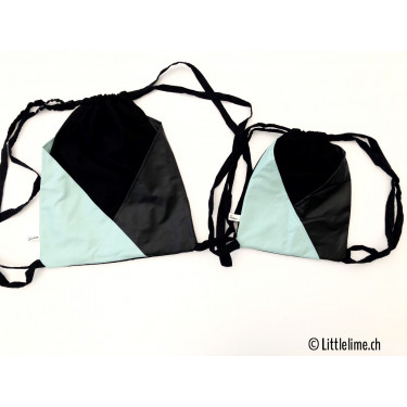 Sportbag mint & schwarz for littles