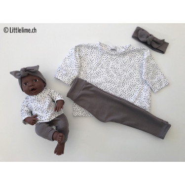 Mini-me Outfits dots antrazit