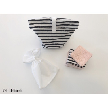 Abschminkpads Set stripes (soft&strong) eckig