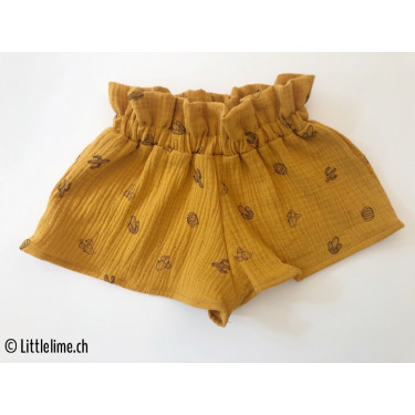 Shorts Musseline Kaktus curry