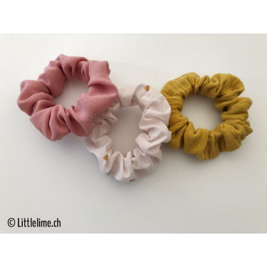 Scrunchie Set confetti mint/curry/rosa