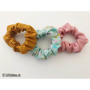 Scrunchie Set confetti mint/rosa/curry