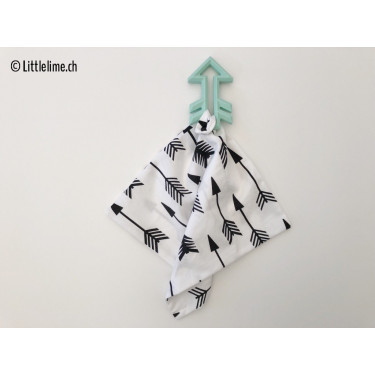 Tuch arrows black&white mit Beissring arrow