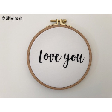 "Stickrahmen ""Love you"" schwarz small"