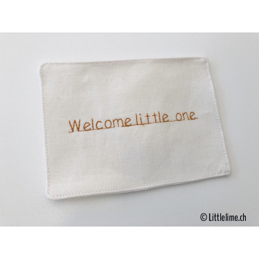 Stoffkarte Welcome little one curry