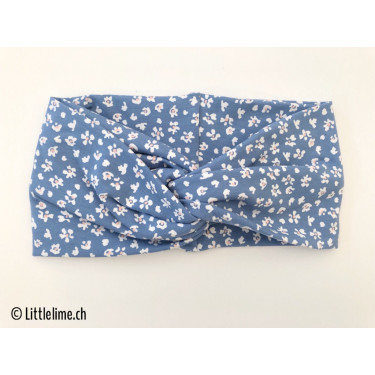 Haarband twist flowers blue