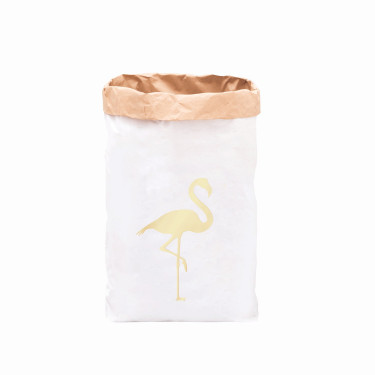 Paperbag Flamingo gold