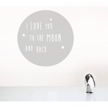 "Wandsticker ""I love you to the moon and back"""