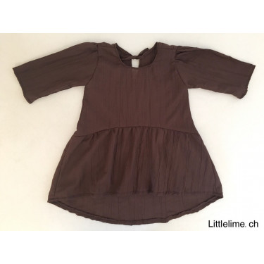 Kleid boheme girl dunkelbraun / bordeaux