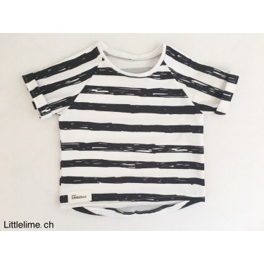 Shirt strpes black & white