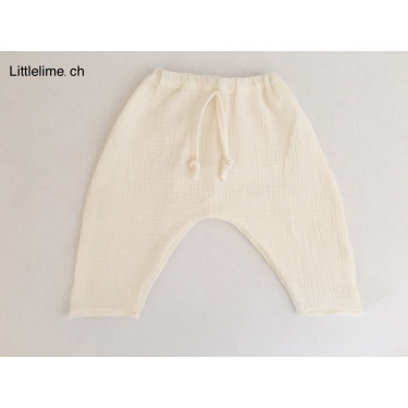 Hose Musseline offwhite