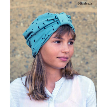 Turban mint stripes